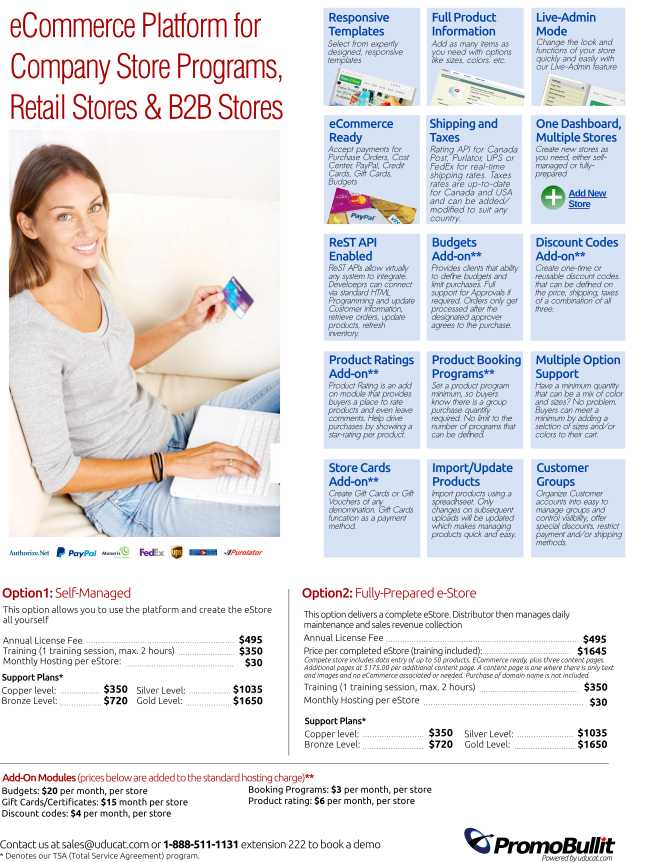 Uducat Estore Platform Company Stores Promotional Products
